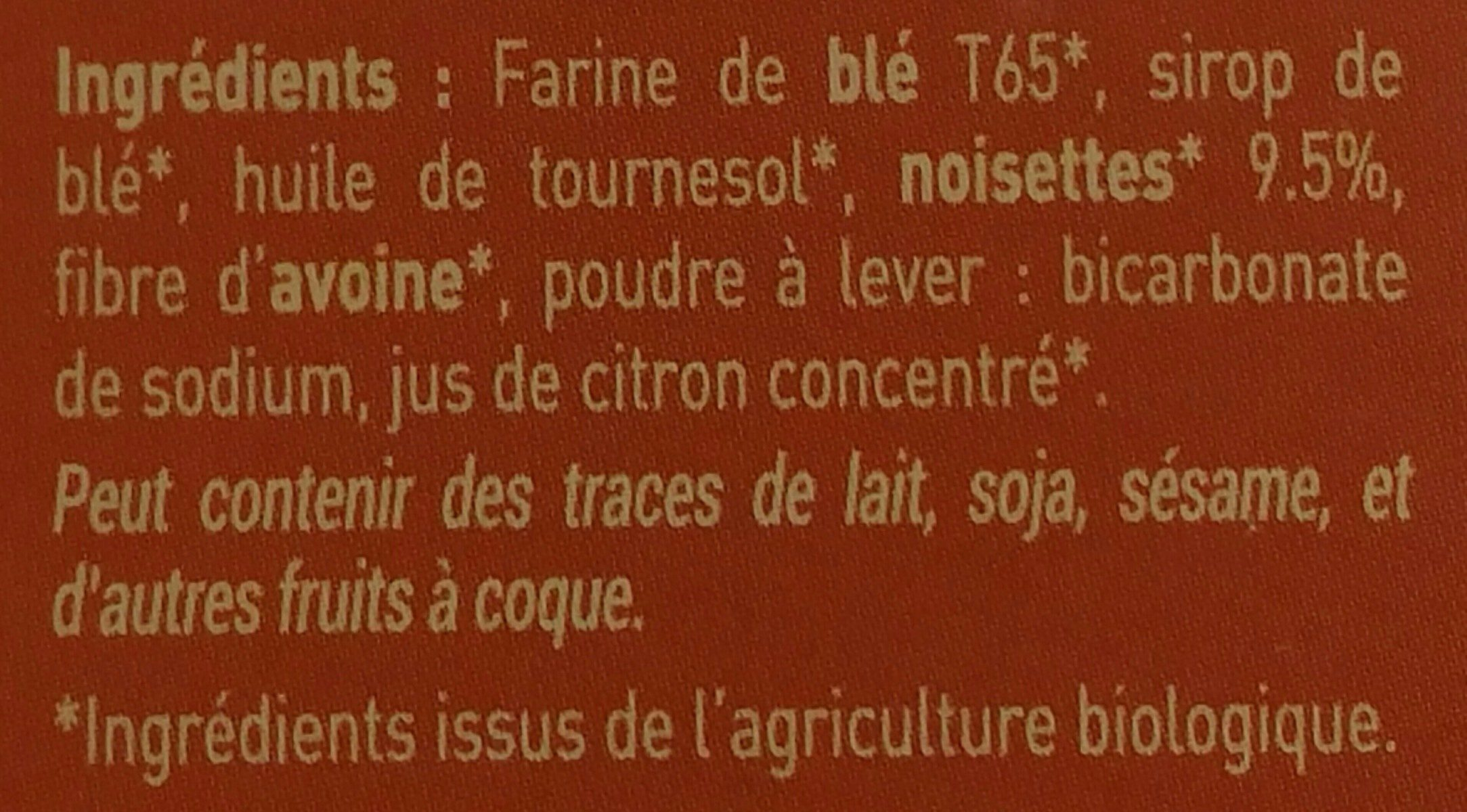 Équi'libre noisettes - Ingredients