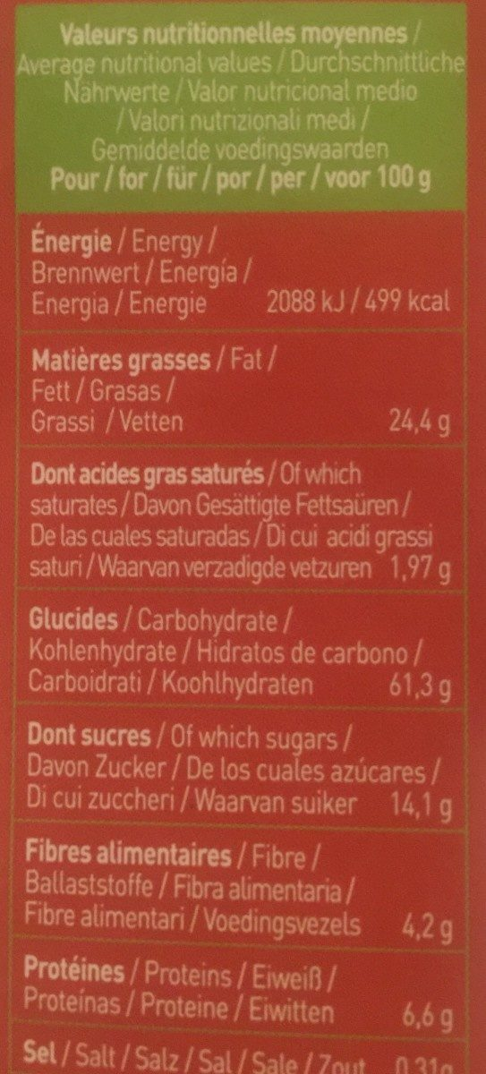Équi'libre noisettes - Nutrition facts
