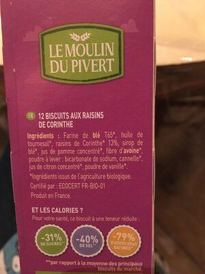 Équilibre raisins - Ingrediënten