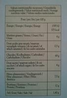 Pain grillé à la farine complète - Informations nutritionnelles