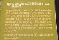 Equi'libre céréales et graines - Ingrédients - fr
