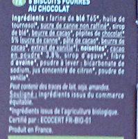Biscuit Moulin du Pivert - Ingrédients - fr