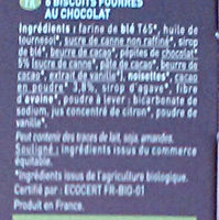 Twibio chocolat - Ingredients