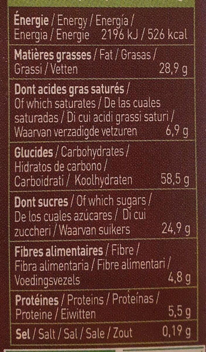 Biscuit Moulin du Pivert - Informations nutritionnelles - fr
