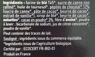 Fourrés choc' - Ingredients