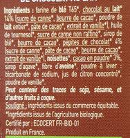 Biscuits Twibio Double Chocolat Au Lait Bio & équitable - Ingrédients - fr