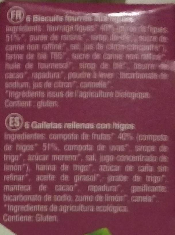 Fourrés figue - Ingredients