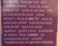 Twibio fourrés myrtille - Ingrédients - fr