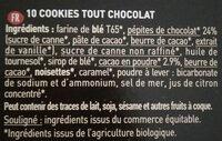 Cookies Tout choco - Chocolat Noir et Pépites de Chocolat - Ingredients