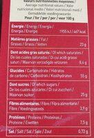 Cookies tout choco - 营养成分 - fr