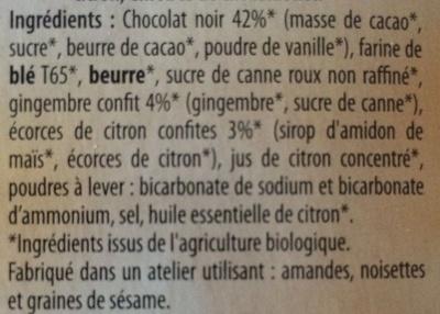 Tentation gingembre-citron - Ingrédients