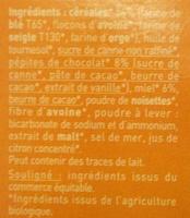 Biscuits P'tit Déj' bio - Céréales, chocolat et miel - Ingrédients - fr