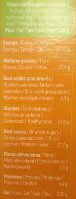 Biscuits P'tit Déj' bio - Céréales, chocolat et miel - Nutrition facts
