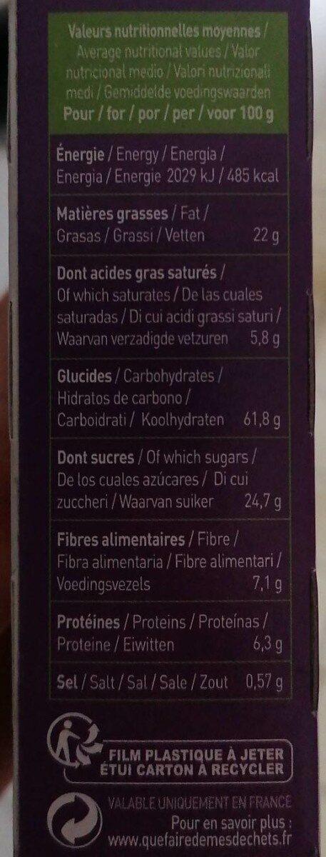 P'tit déj bio chocolat - Informations nutritionnelles - fr