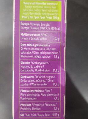 P'tit déj bio céréales et chocolat - Nutrition facts - fr