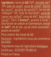 Plaisir châtaigne - chocolat noir - Ingrediënten - fr