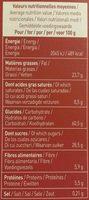 Plaisir châtaigne - chocolat noir - Voedingswaarden - fr