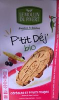 Biscuits P'tit Déj' bio - Céréales et fruits rouges - Product - fr