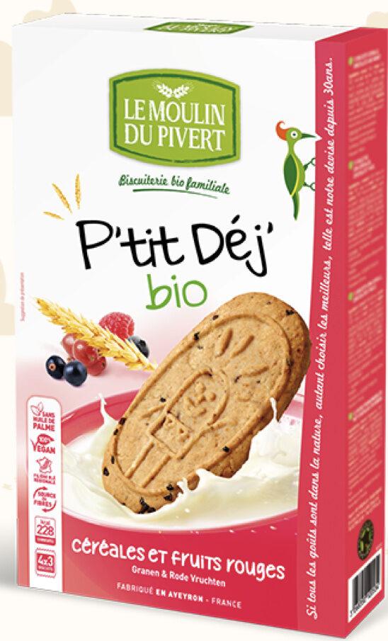Biscuits P'tit Déj' bio - Céréales et fruits rouges - Product - fr