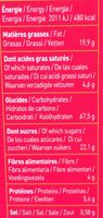 Biscuits P'tit Déj' bio - Céréales et fruits rouges - Nutrition facts - fr