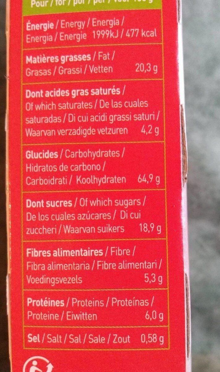 Biscuits P'tit Déj' bio - Céréales et fruits rouges - Voedingswaarden - fr