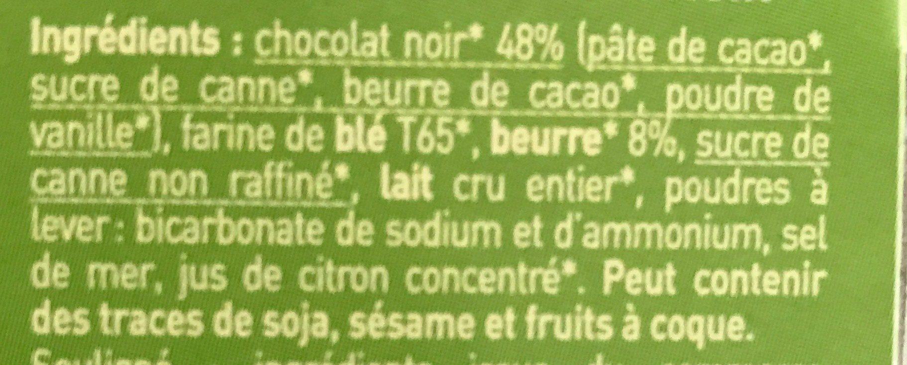 P'tiwi Choc' - Biscuit p'tits beurres très très chocolat noir - Ingrediënten - fr