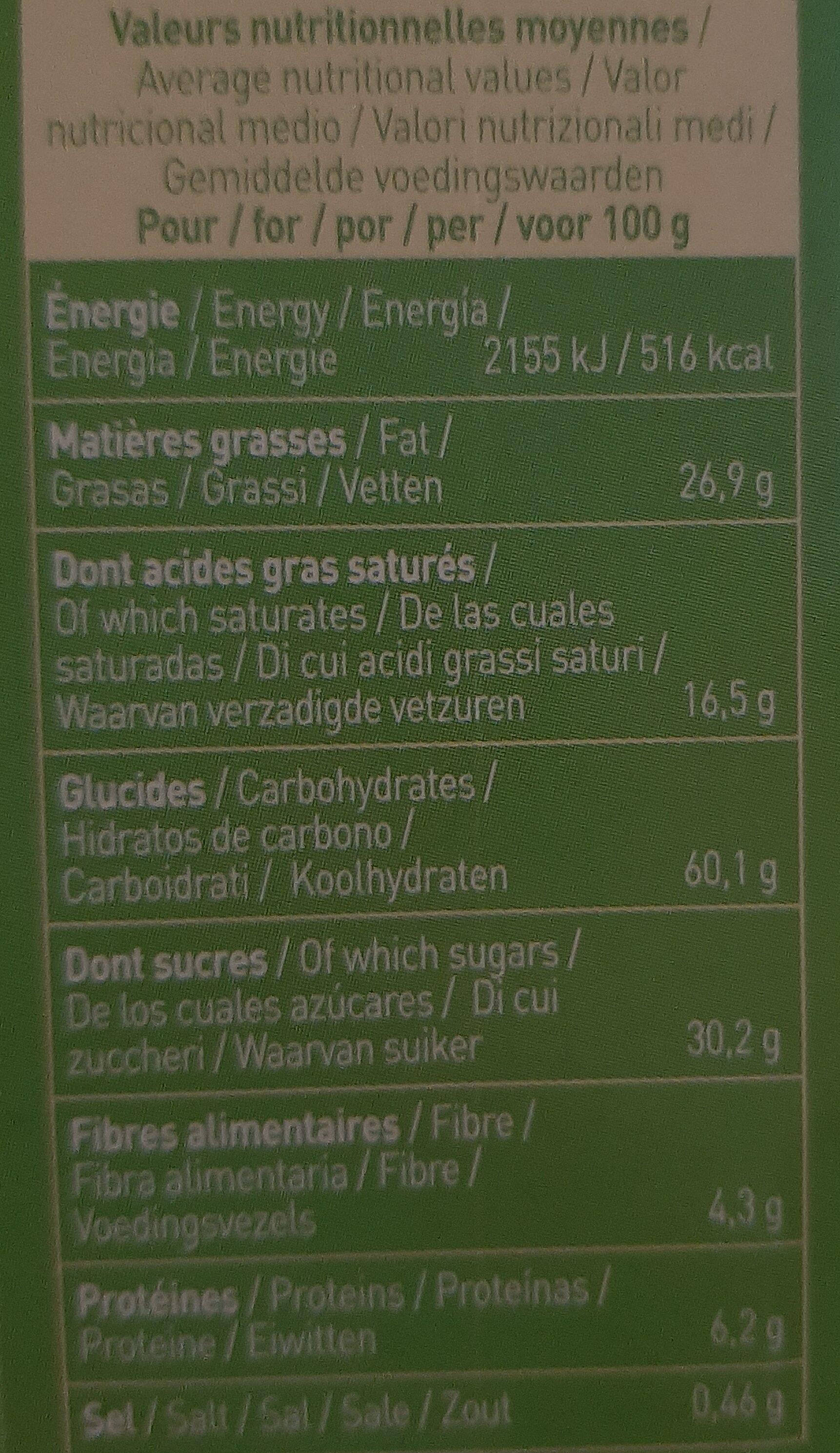 P'tiwi Choc' - Biscuit p'tits beurres très très chocolat noir - Voedingswaarden - fr