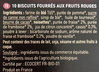 Fourrés fruits rouge éclats de cassis - Ingrediënten