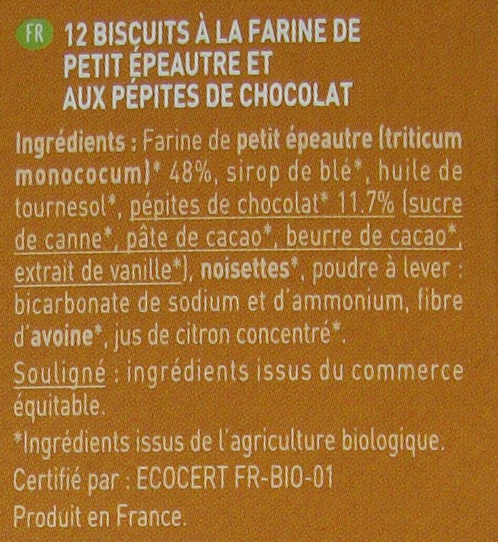 Équi'libre petit épautre et chocolat - Ingrédients
