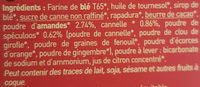 Sablés au spéculoos - Cannelle & amande - Ingrediënten - fr