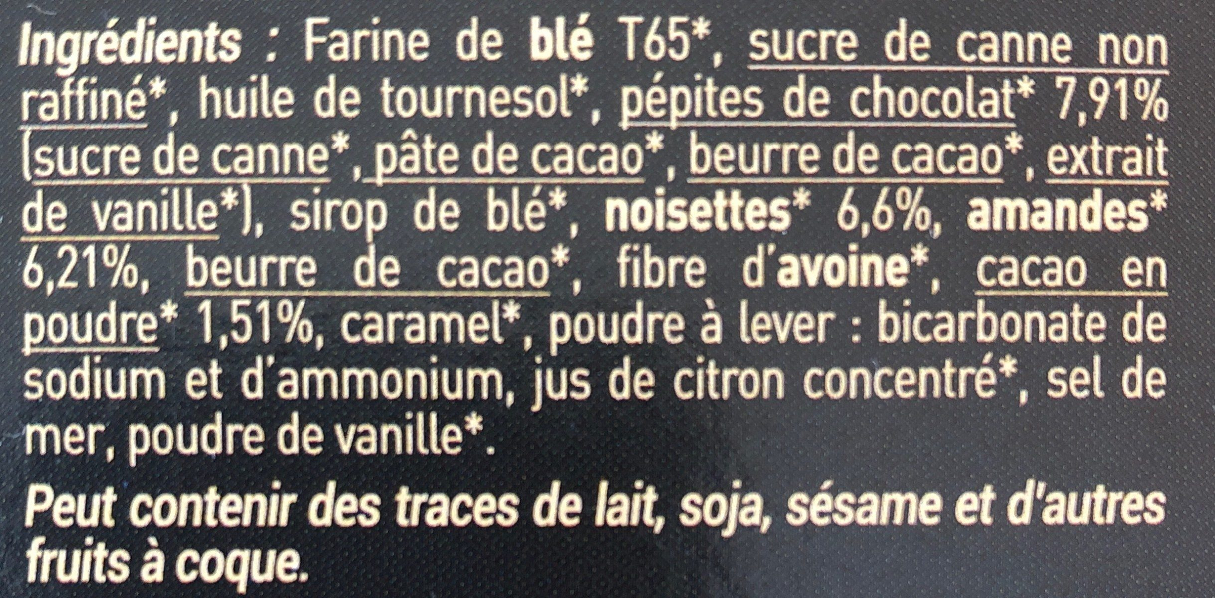 Fourrés praliné - Ingredients