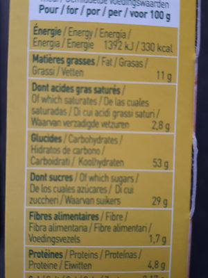 Twibio citron - Nutrition facts - fr