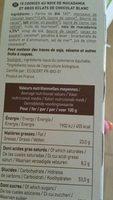 Cookies Macadamia - Ingredients