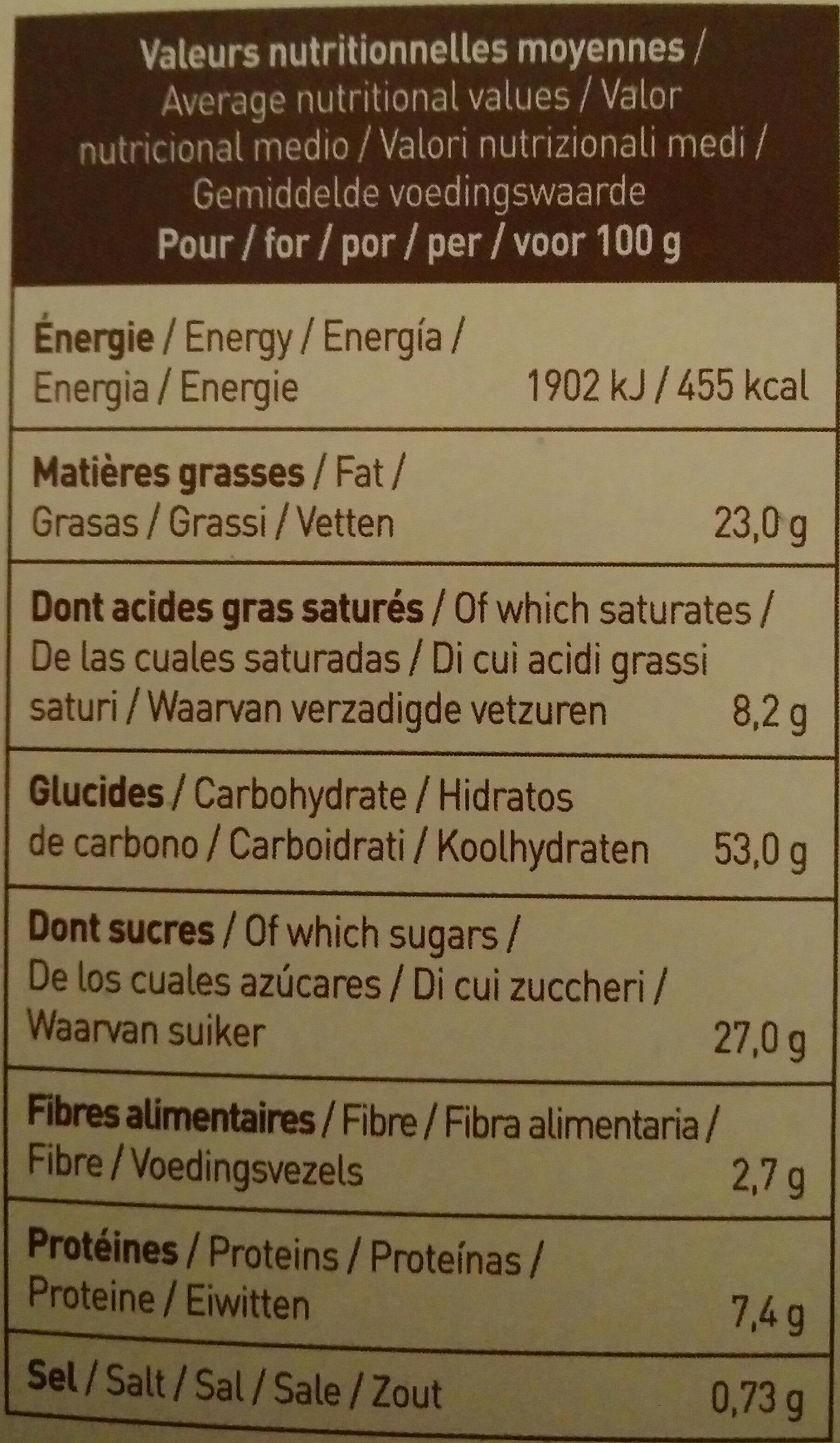 Cookies Macadamia - Voedingswaarden - fr