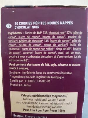 Cookies Nappés - Ingredients - fr