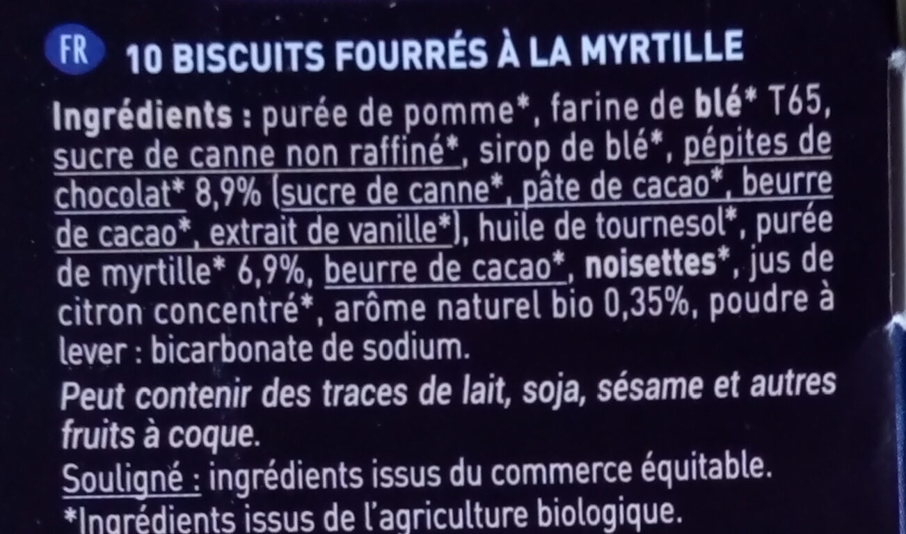 Fourrés myrtilles - Ingredients - fr