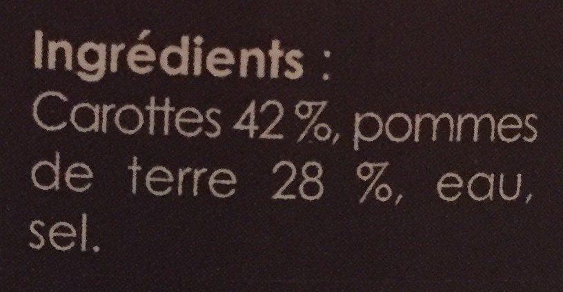 Velouté de carottes - Ingrédients - fr