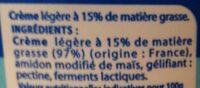 Crème Épaisse - Ingrédients - fr