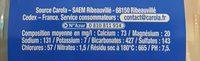 CAROLA Bleue Plate PET 50cl - Ingrediënten