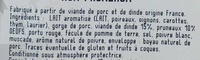 Boudin blanc à l'ancienne aux pruneaux - Ingrédients - fr