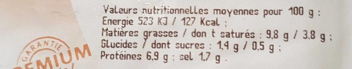 Choucroute garnie au riesling - Informations nutritionnelles - fr