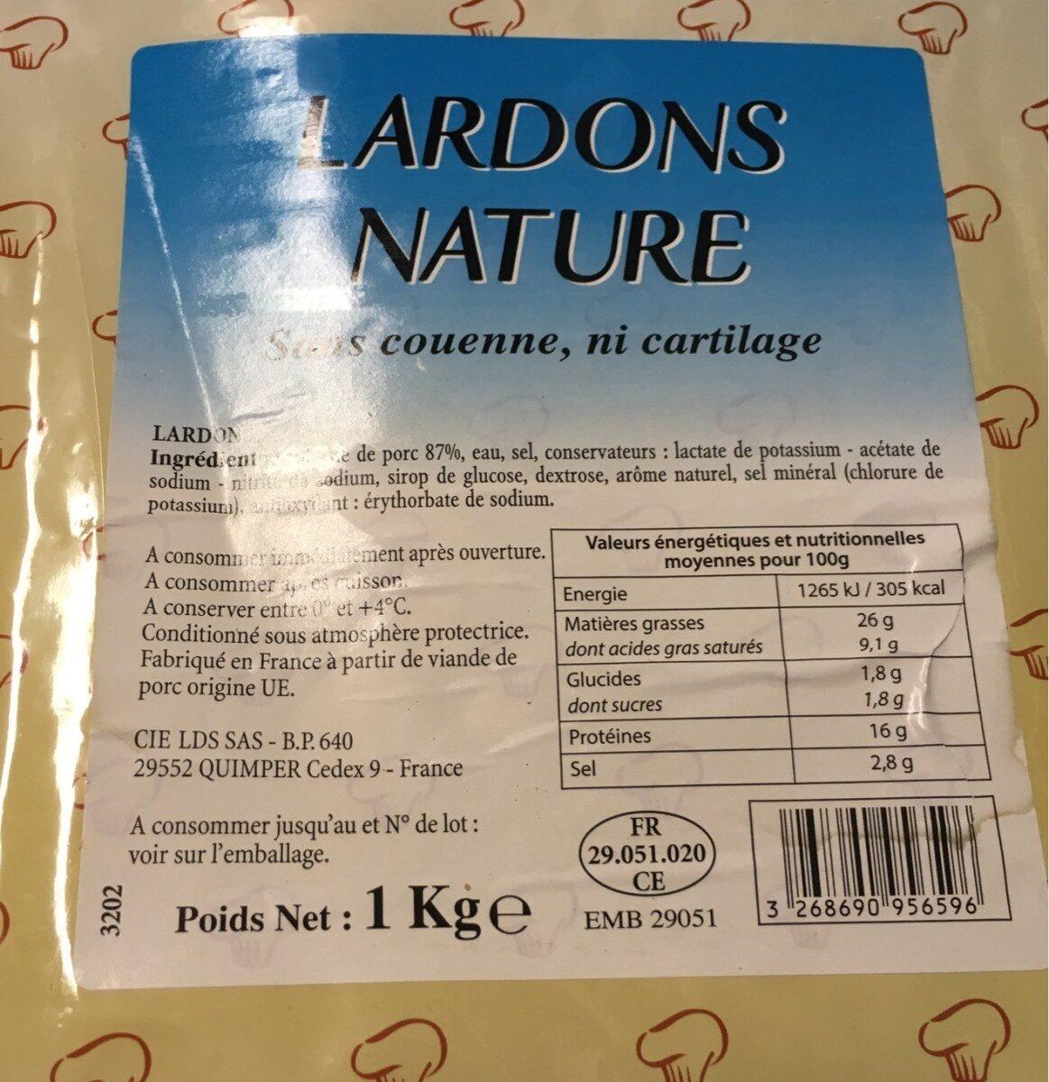 Lardons nature - Product