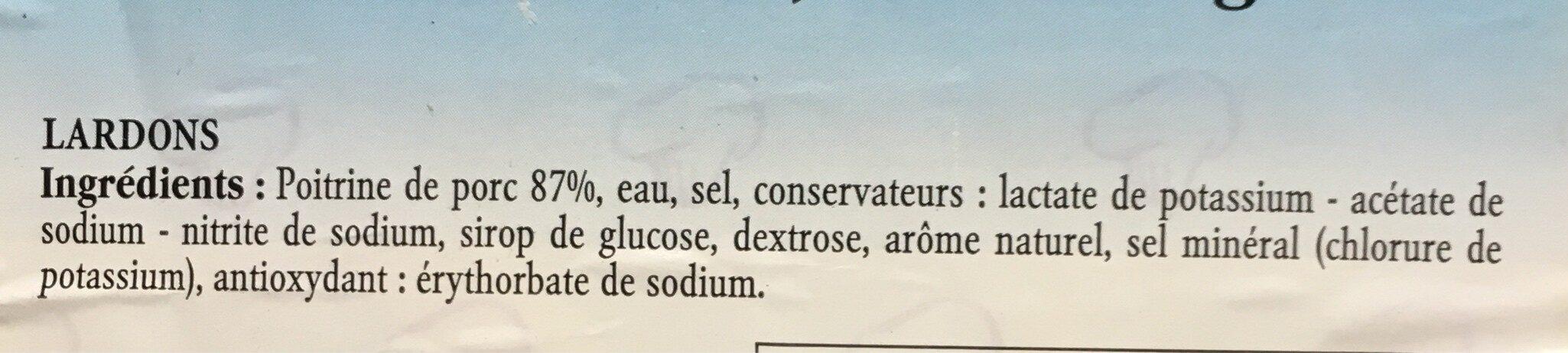 Lardons nature - Ingredients