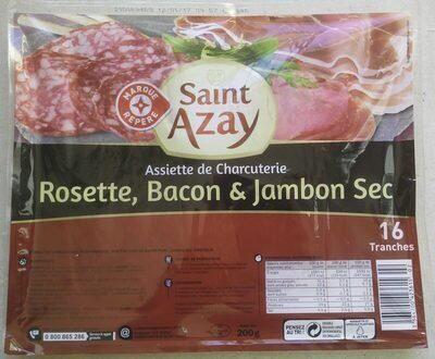 Assiette charcutiere rosette bacon jambon sec - Produit - fr