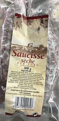 Saucisse sèche pur porc - Produit - fr