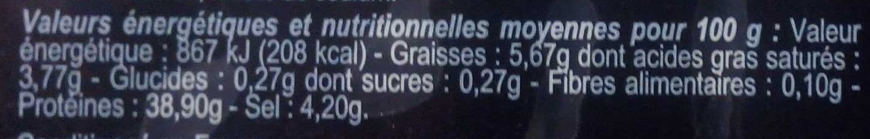 Viande séchée des Alpes - Voedingswaarden