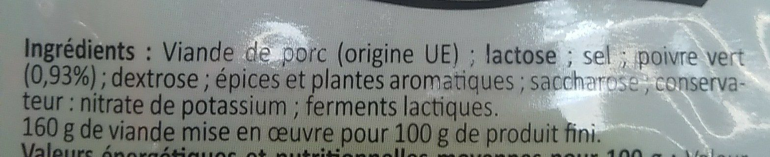 Miche au poivre - Ingrédients - fr
