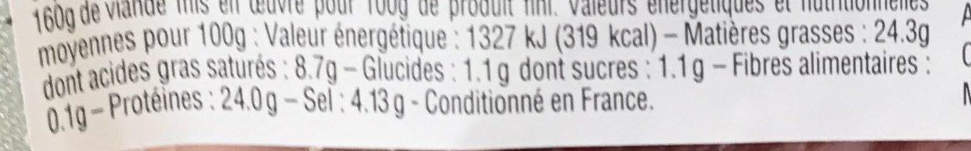 Miche au poivre - Informations nutritionnelles - fr