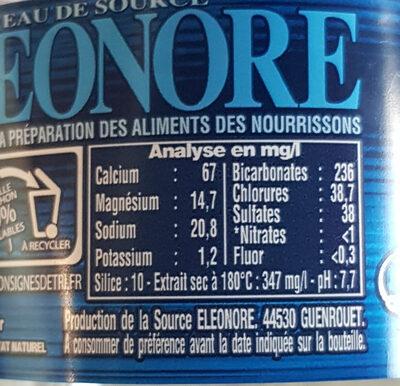 Cristaline Eau de source - Ingrediënten - fr