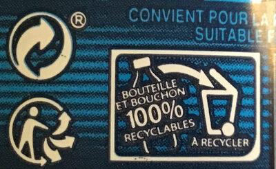 Cristaline Eau de source - Instruction de recyclage et/ou informations d'emballage - fr